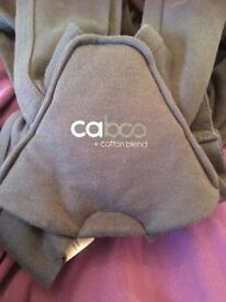 Close Caboo + baby sling / carrier in grey