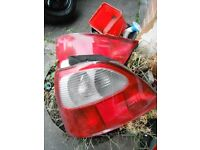 MG ZR , ZS , ROVER 25 , BOTH REAR LIGHT ASSEMBLIES ALL C/W BACKS ASND BULBS £10 EACH ,