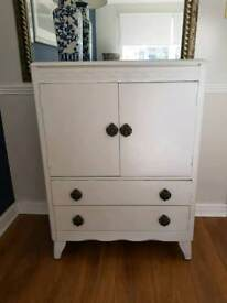 Pale Grey painted 1940's Cabinet/console table