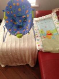 Baby chair and change mat