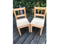 Pair of small child's / toddler/ kids chairs