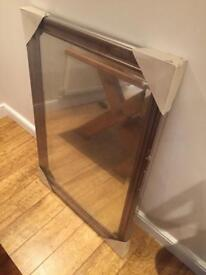 Large silver mirror new