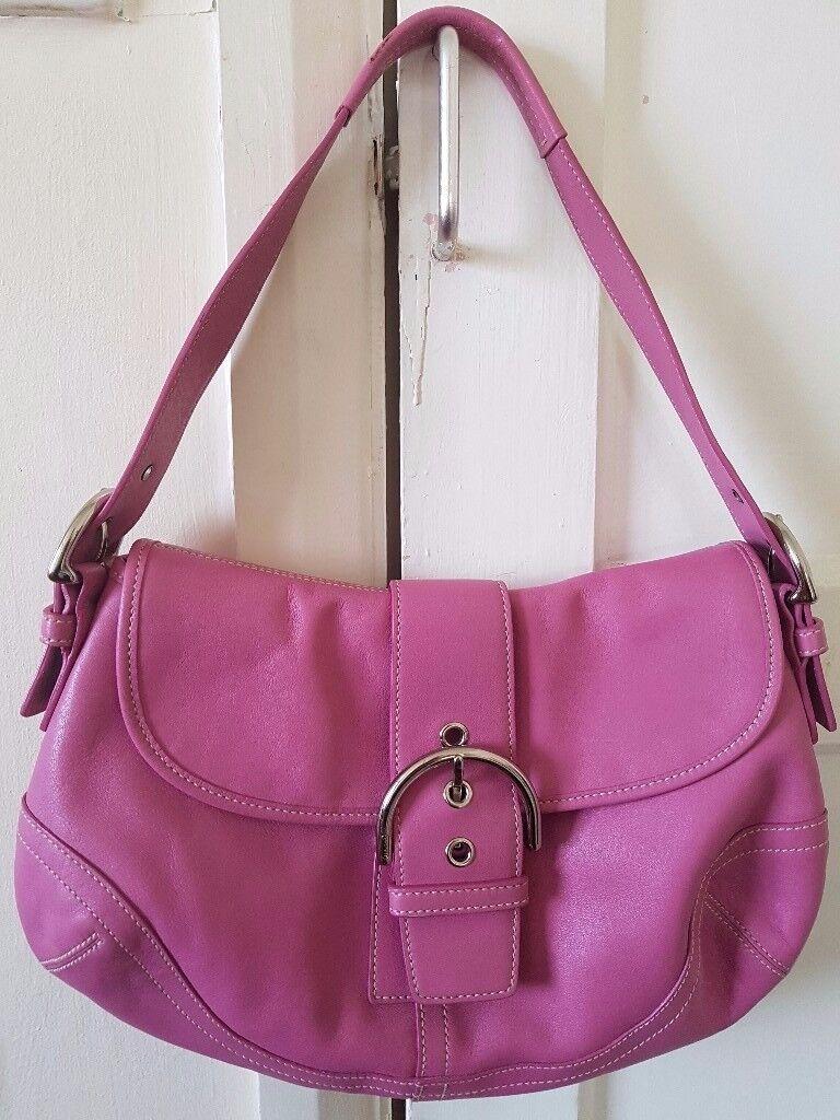 "Coach SOHO Leather Shoulder Bag - ""Rare"" Pink 9248"