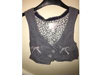 Girls vest top and waistcoat