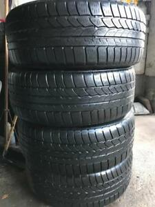 4 pneus dhiver 255/50/19 continental 4x4 winter contact runflat