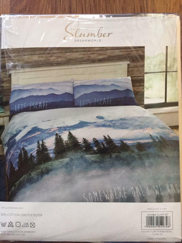 Double Duvet Cover Set Somewhere Only We Know Brand New