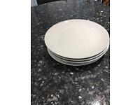 Five white China Plates For Sale
