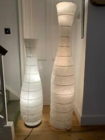Two tall lamps.