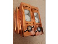 Titleist ProV1 golf balls - 18 NEW UNUSED balls in sleeves