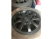 14 inch Matt Black Alloy wheels