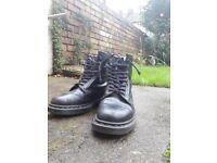 Dr Martens black boots, size 6, eu size 39. Originally made in UK.