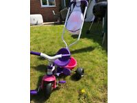 Smoby Trike with parent handle
