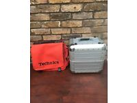 Record Box Flight Case and Technics DJ Bag