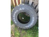 Grabber at general tyre nearly new! See pic for tyre size