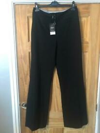 Next black tailored trousers size12 long