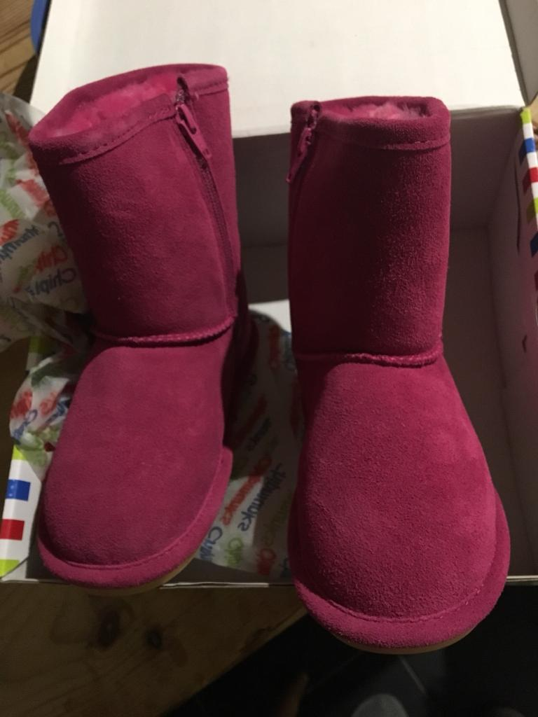 Pink Chipmunk boots 12