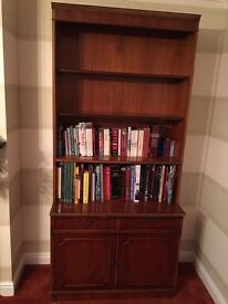 Yew bookcase. Very good condition.
