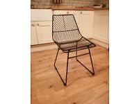 4x Black wire Dunelm dining chairs