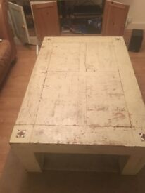 Large shabby chic coffee table