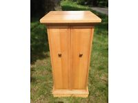 Solid Oak CD storage unit, drinks cabinet, plant stand, display cabinet upcycle/refurb