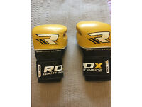 RDX Quad Kore 12oz Boxing Gloves - Yellow - Barely used!