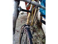 Vintage Raleigh Bike with sakae road champion handlebars - spares or repairs