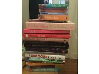 20 mixed Cook Books