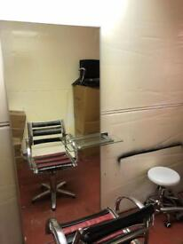 3 x hairdressing salon styling units mirrors