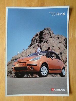 CITROEN C3 Pluriel 2002 UK Mkt sales brochure