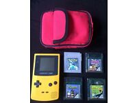 Original gameboy colour with Pokemon silver and other games also has a case