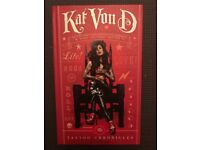Kat Von D Signed book The Tattoo Chronicles