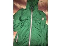 Green Nylon Moncler Jacket