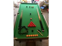 FOR SALE Hy Pro folding Snooker table 6ft. Excellent condition