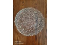 Italian Glass Cake Plate 31 cm