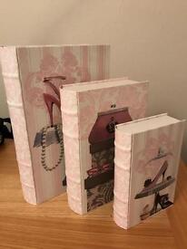 Stacking boxes- pink