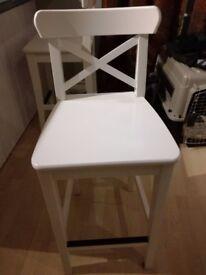 White bar chair good condition