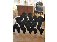 Mixed job lot of black velvet jewellery display stands