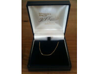 NEW & BOXED 18 Carat Gold Women's Necklace - 18 Inches, Fully Hallmarked.