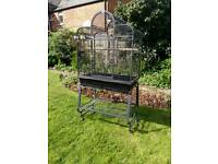 Large bird/parrot cage with stand