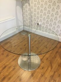 6 Seater M&S Glass Table - Chairs NOT INCLUDED