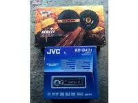 Jvc head unit and edge door speakers