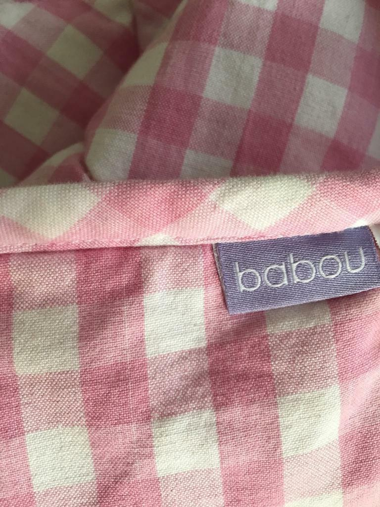 Pink Gingham Throw