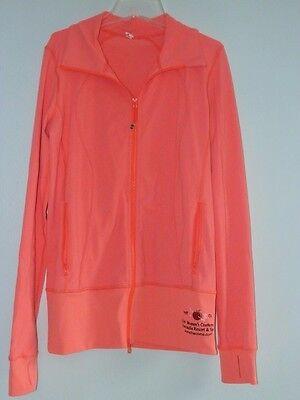 Lululemon Athletica Sz 8 Asana Jacket Flare Orange Zip Up 2014 Corco Womens