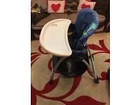 Chico High chair - excellent condition, folds flat