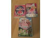 3 barbie dvds
