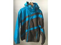 Quiksilver Strawpedo men's winter jacket in blue and brown. Size EU - medium / US - small.