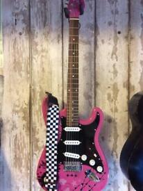 Girls Rock Pink Punk Electric Guitar