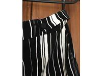 Striped trousers tops shop size 12