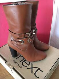 NEXT Brown leather boots UK 5
