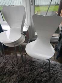 White Next dining chairs x4